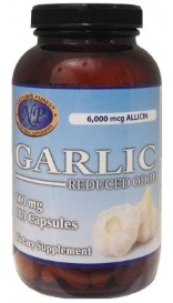 GARLIC, 180 capsules, 600 mg each ODORLESS