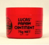 Lucas Papaw Ointment, PAPAW ACNE, Wound & Burn Ointment, net weight 75 g