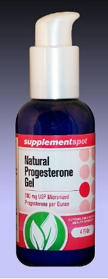 Natural Progesterone Gel, 4 fl oz