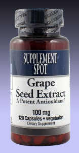 GRAPESEED EXTRACT 95%, 120 vegicaps, 100 mg