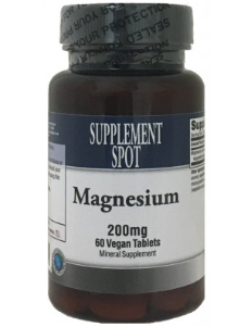 Magnesium, 200 mg, 60 Vegan Tablets