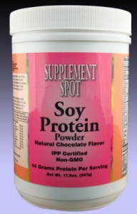 SOY PROTEIN POWDER, Chocolate, 17.9 oz/507 g