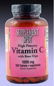 Vitamin C with Rose Hips (High Potency), 100 tablets, 1000 mg