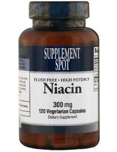Niacin (no flush), 120 vegicaps, 300 mg