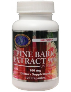 Pine Bark Extract, 120 capsules, 100 mg