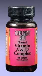 Vitamin A & D, 100 softgels, 10000 IU