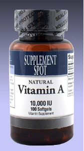 Vitamin A, 100 softgels, 10,000 IU